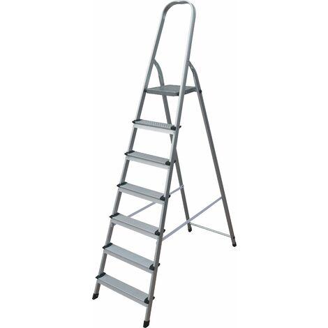 Taburete Escalera Aluminio - 7 peldaños- 1.48M - MADER®