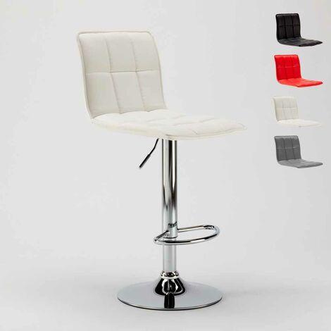 Taburete moderno de cuero artificial para cocina y bar diseño ...