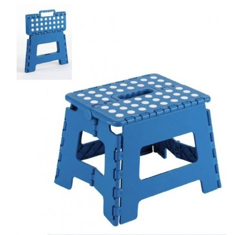 Taburete Multiuso Plegable Azul 25X20X21Cm - ARREGUI - Tb021A