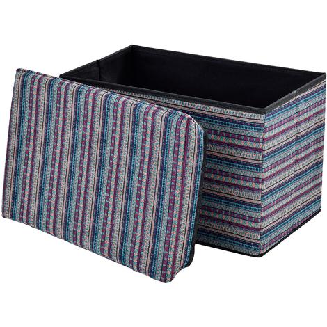 Taburete para almacenaje plegable - arcón tapizado de tela (48x32cm) - asiento - de colores