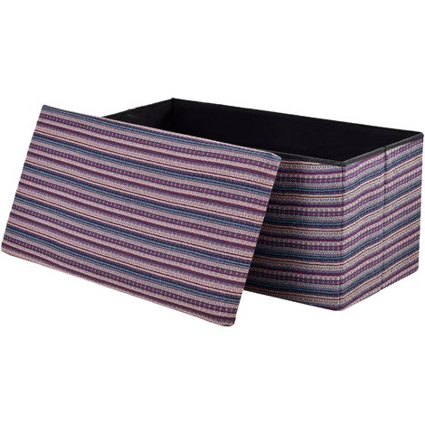 Taburete para almacenaje plegable - arcón tapizado de tela (76 x 38cm) - asiento - varios colores, de punto