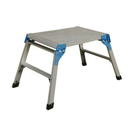 Taburete plataforma 60x45cm aluminio