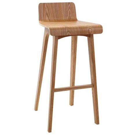 Taburete / silla de bar diseño madera natural estilo nórdico baltik
