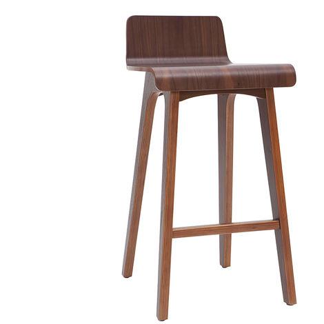 Taburete / Silla de bar escandinavo 65cm blanco patas madera BALTIK