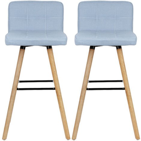Taburetes de bar silla de bar, tela, Azul