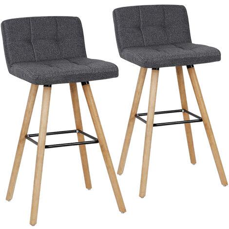 taburetes de bar silla de bar  tela  Gris
