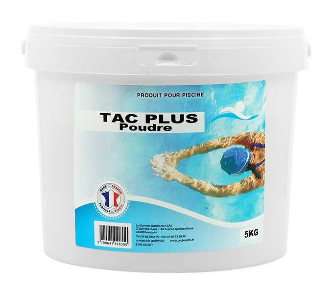 TAC Plus poudre - 1x5kg de pH, TAC - Swimmer