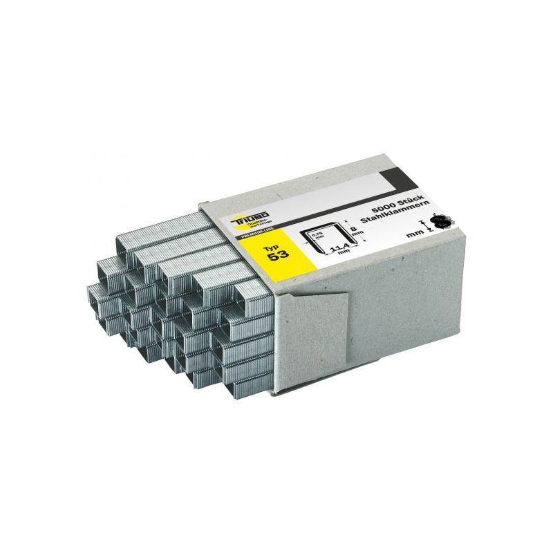 L/änge: 12mm // Tackerklammern//Heftklammern Typ 53 verzinkt 5000 Tackerklammern