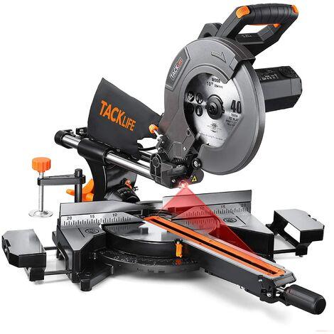 """main image of """"TACKLIFE 2000W Troncatrice con Laser, Doppia Velocità 4500 & 3200 RPM, 3 Lame da 254mm, Troncatrice Radiale per taglio di Legno Metallo e Plastica EMS01A"""""""