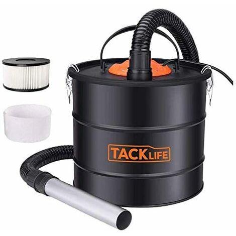 TACKLIFE Aspiradora de cenizas, Aspiradora de cenizas de 800 W, Tanque de cenizas VAC, Capacidad de 5 galones, Colector de cenizas / polvo / escombros sin bolsa, Apto para fuego, Quemadores de leña, Estufas de pellets-PVC03A