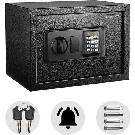 TACKLIFE coffre-fort 0,5 pieds cubes boîte de verrouillage numérique avec lumière d'instructions pour argent coffre-fort bijoux passeport pistolet sécurité-HES25A