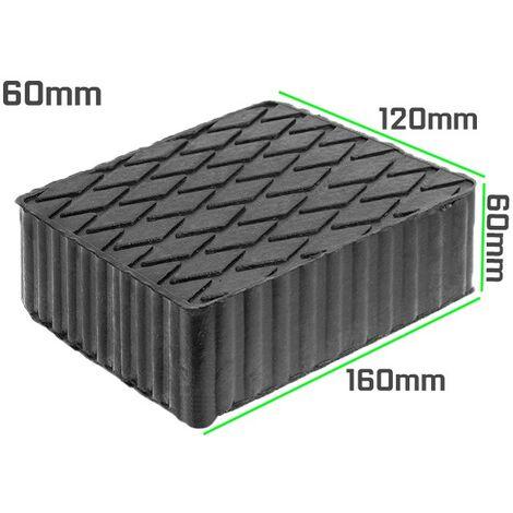TACO DE GOMA 160 x 120 mm. ALTURA 60 mm PARA ELEVADORES DE TALLER - 10302