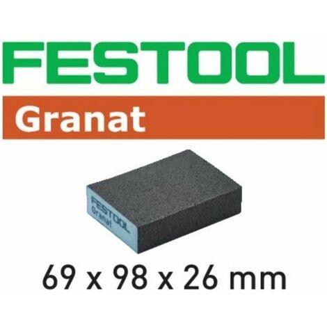 Taco de lijado grueso grano 36 Granat Festool
