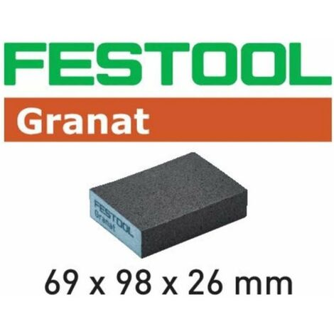 Taco de lijado grueso grano 60 Granat Festool