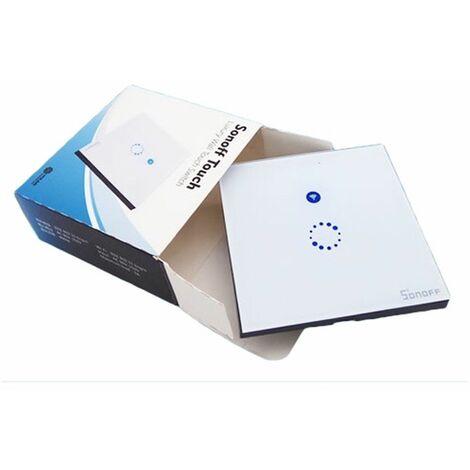 Tactil Interruptor inalámbrico via WiFi básico para domotica compatible amazon echo, google home