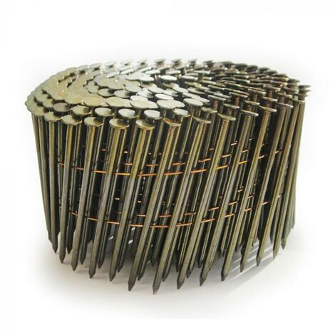 Tacwise 0279 2.3 x 50mm Bright Coil Nails Flat Top 9000 Nails FCN57V GCN57P