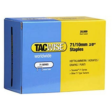 Tacwise 0369 Type 71 Box of 20,000 Staples 10mm 71 Series