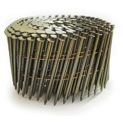 Tacwise 0427 2.5 x 64mm Bright Coil Nails Flat Top 9000 Nails FCN57V GCN70V
