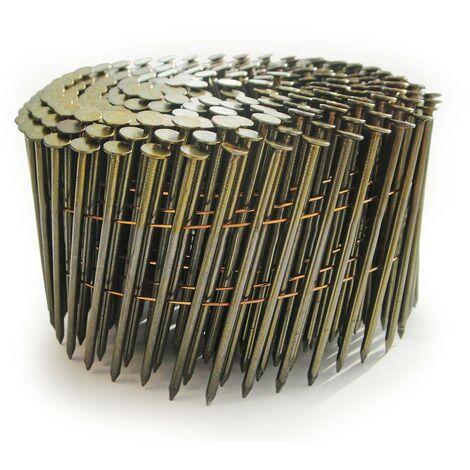 Tacwise 0994 2.1 x 35mm Bright Coil Nails Flat Top Nailer 14000 Nails FCN57V