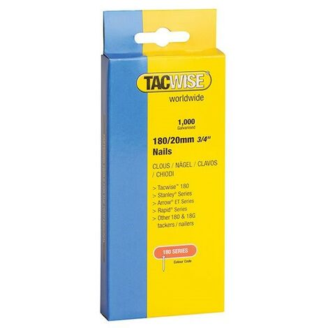 Tacwise 180 Series 1066 18 Gauge 25mm 18g Nails Stainless Steel Pack of 1000