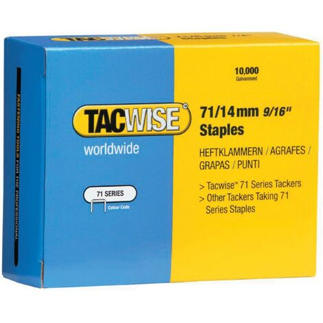 Tacwise 71/4mm Staples (BOX-20000)
