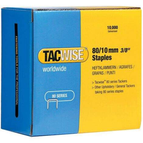 Tacwise 80/8mm STAPLES (BOX-10000)