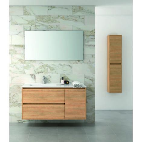 Tagus Mueble de baño con lavabo ceramico 2 Cajones/1Puerta 120 cms. Hera