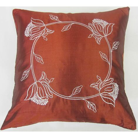 "Tahiti 18"" Burgundy Cushion Cover Bed Sofa Accessory Unfilled"