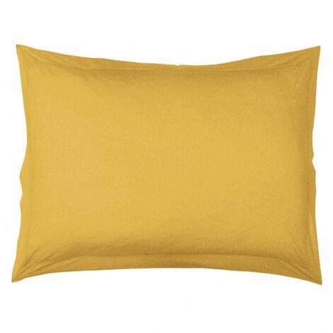 Taie d'oreiller volant plat Lina point bourbon - 57 fils - 50 x 70 cm - Miel