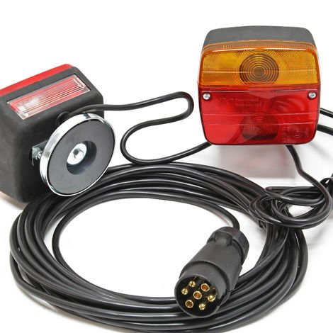 Tail Lights for Trailer and Caravan 7 Pin with 7.5 m Cable and 2 Light Units