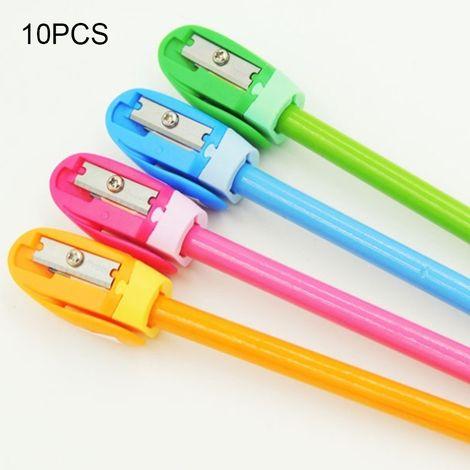Taille-crayon manuel 10 PCS amical à l'école de bureau à la maison, livraison aléatoire de couleur