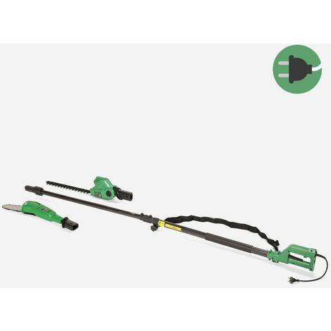 Taille-haie électrique télescopique 2en1 450W / 710W Putator