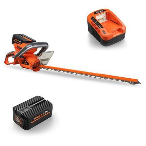 Taille-haies batterie 40 V FUXTEC E522D / set avec batterie et chargeur