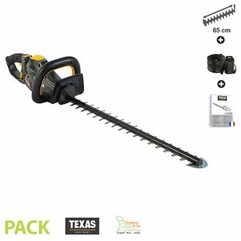 Taille haies électrique sur batterie 58 Volts lamier double 65 cm poignée ergonomique Texas HTZ 5800 sans batterie ni chargeur