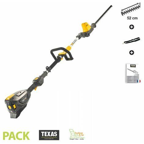 Taille haies électrique sur perche à batterie 58 V tête de coupe orientable manche orientable Texas PHZ 5800 sans batterie ni ch