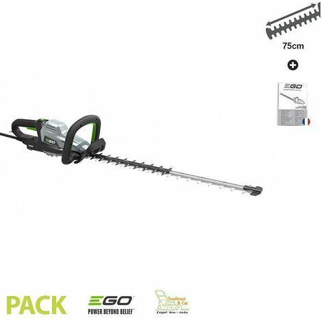 Taille-haies professionnel sans fil lamier double 75 cm coupe 33 mm HTX7500 Egopower - Gris