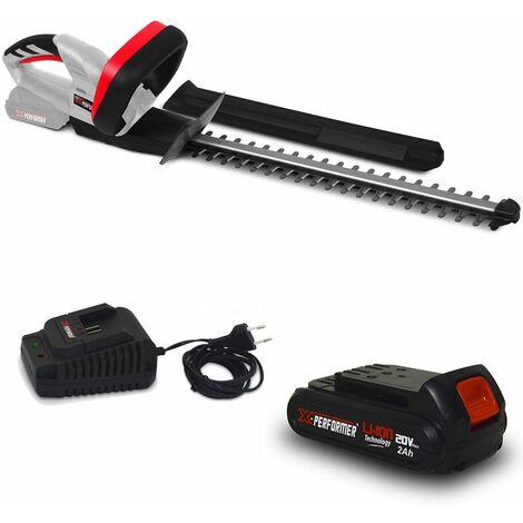 Taille haies rechargeable 20V à batterie X-Performer XPTH20LI + Batterie 2 Ah et chargeur - Cache de protection pour la main