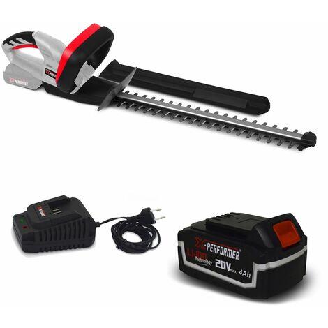 Taille haies rechargeable 20V à batterie X-Performer XPTH20LI + Batterie 4 Ah et chargeur - Cache de protection pour la main
