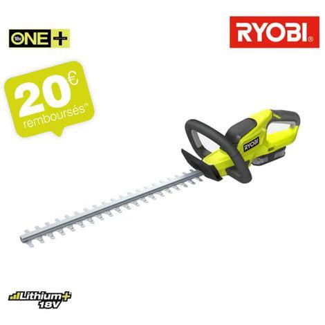 Taille-haies RYOBI 18V OnePlus LithiumPlus 1 batterie 2.0 Ah - 1 chargeur rapide RHT184520