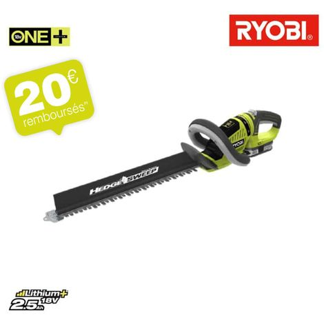 Taille-haies RYOBI 18V OnePlus LithiumPlus 1 batterie 2.5 Ah - 1 chargeur RHT1851R25F