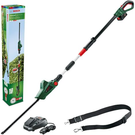 Taille-haies télescopique sans fil Bosch - UniversalHedgePole 18 (1 batterie 18V - 2,5Ah, système 18V, lame de 43mm)