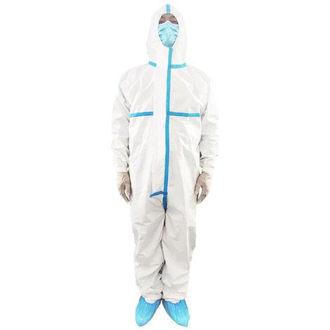Taille M-combinaison de protection jetable costume de Protection de sécurité vêtements une pièce combinaison à capuche vêtements pour l'isolement de l'hôpital