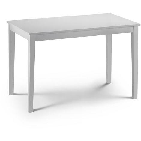 Taku Dining Table - Satin White Space Saving Unique Modern Design