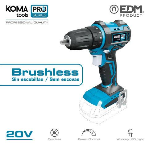 Taladro atornillador 20V brushless (sin bateria y cargador) Koma tools battery series EDM