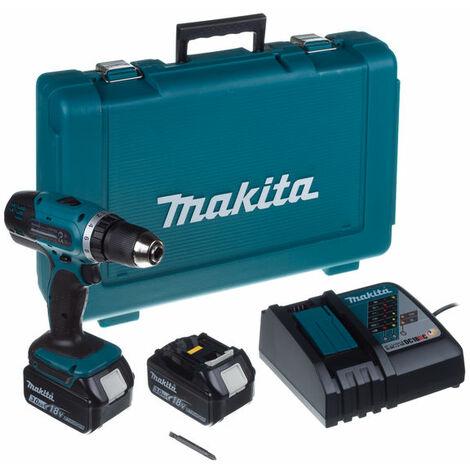 Taladro atornillador a bateria 18v litio-ion 3.0 ah 42nm - MAKITA - Ref: DDF453RFE