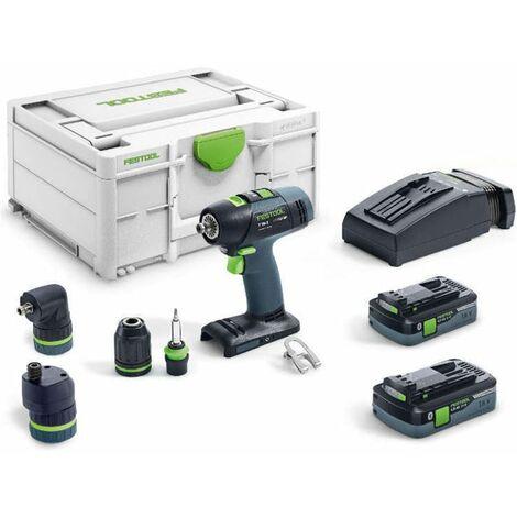 Taladro atornillador a batería T 18+3 HPC 4.0 I-Set Festool - FST-576989