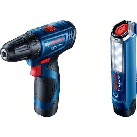 Taladro atornillador con linterna Bosch GSR 120-LI + GLI