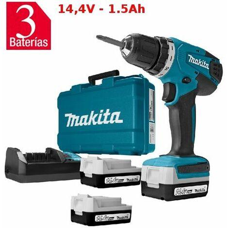 Taladro Atornillador Makita DF347DWE3 con 3 Baterías