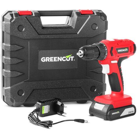 Taladro atornillador perforador inalambrico de bateria litio 21V – GREENCUT