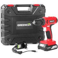 Taladro atornillador perforador inalámbrico de batería litio 21V – GREENCUT